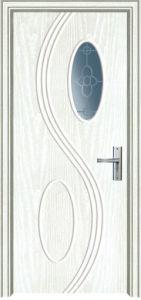 L'intérieur de porte en bois avec répartiteur principal MDF et porte en PVC (PVC)