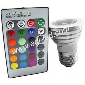 3W RGB Fern-LED Scheinwerfer (E27, GU10, MR16, E14)