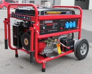 Generatore della benzina con i corredi della rotella e della maniglia, inizio elettrico (PG9000E)