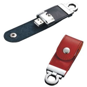 カスタマイズしなさい浮彫りにするロゴ革USBのフラッシュドライブ(KDL001)を