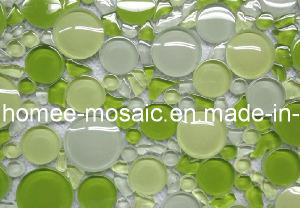 Mélange en verre de vert de tuile de mosaïque de piscine de courbe