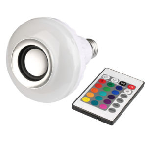Altoparlante senza fili della lampadina di Bluetooth di musica chiara di telecomando di RGB E27 LED audio