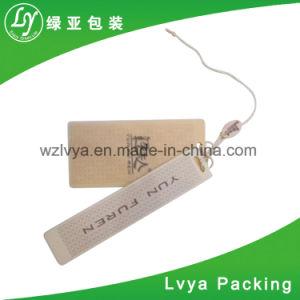 Etiqueta de papel Kraft personalizada etiqueta colgar prendas de vestir