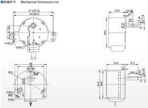2-6W el eje hueco del motor de pasos para el robot Reprap Macurbot