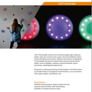 Banheira de venda no mercado europeu do Corpo de PC LED de 5 W luz de treinamento