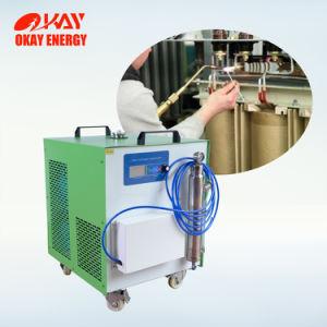 La conexión de soldadura de aluminio transformador oxhídrico generador de gas de agua