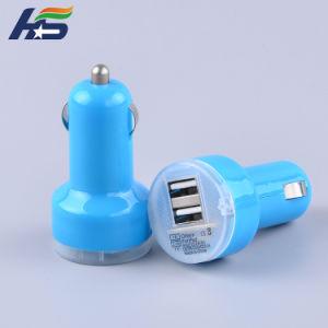 Certificado de Qualcomm cargador rápido de 2 puerto USB de tipo C / cargadores de coche universal Smart IC con LED