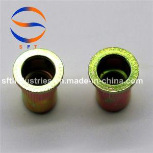 À TÊTE PLATE M4 corps rond moleté l'écrou rivet aveugle ISO13918