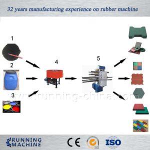 macchina di gomma della pressa di Vulcanzing delle mattonelle 80tons