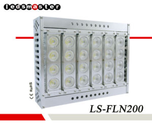 Resistente al agua IP66 de 200 vatios de potencia alta de proyectores de luz LED para el campo de fútbol