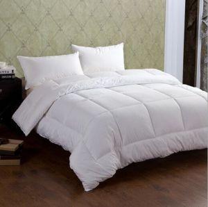 Tamanho único para baixo respirável algodão edredão de plumasde hotel com Pato Branco Para Baixo