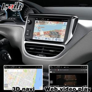 Video interfaccia di GPS di percorso della casella Android del sistema per Peugeot 208 controllo di voce di collegamento dello specchio di retrovisione di 2008 308 408 508 Mrn Semg
