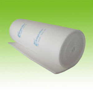 綿のファイバーフィルター媒体、ペンキのスプレー・ブースフィルター材料、EU5天井フィルター媒体