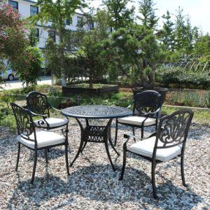 Металлическая мебель ужин письменный стол и стулья для сада и моря на пляже