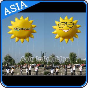 Sun Inflatabel ballon charmant sourire ballon jaune soleil