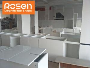 Gut weißer angestrichener befleckter kundenspezifischer Lacpuer Küche-Möbel-Schrank