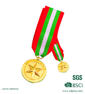 Newest Style Gold Sports Reward Medal with Bibbon