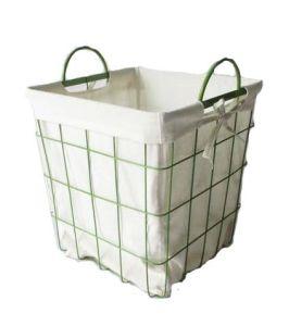 Manípulo de tecidos de malha de arame cesto de armazenamento