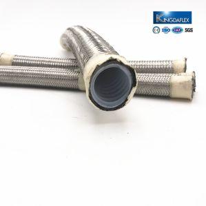 Schlauch-justierbarer gewölbter Teflonschlauch des Edelstahl-R14 umsponnener PTFE
