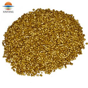 Un 25% de contenido de pigmento de color dorado aditivo Masterbatch