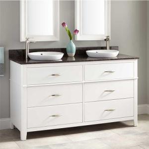Haut de Gamme Salle de bains en bois véritable Cabinet de la vanité de l'Espresso