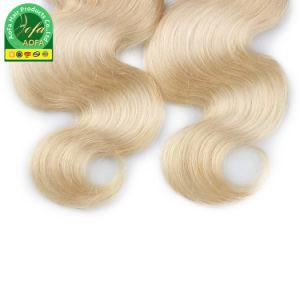 Cor suave e macio 613# Onda Corpo Brasileiro de cabelo humano Platinum cabelos loiros