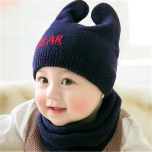 刺繍のロゴの習慣によって編まれる暖かい帽子の帽子の帽子