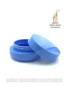 青く装飾的な瓶のクリームの瓶のプラスチック瓶を包む優雅な化粧品