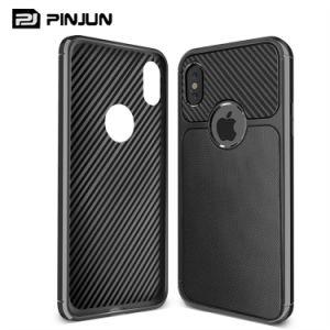 iPhone Xs 최대 Xr 7/8plus를 위한 탄소 섬유 TPU 세포 또는 이동 전화 케이스