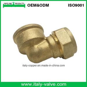 Qualidade personalizada Cotovelo Macho de compressão de latão (AV7009)