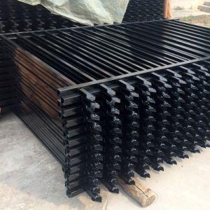 2.4長さ2.1mの高さの黒の鋼鉄塀か電流を通された鋼鉄塀のゲートの黒のアルミニウム塀のパネル