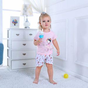 Manicotto dell'insieme 100% della ragazza brevi e maglietta del cotone di Shorts