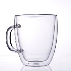 Doppel-wandiges Glascup mit Griff für Milch und Kaffee