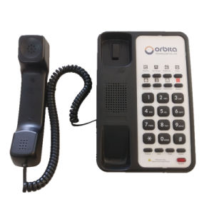De klassieke Geribde vijfsterrenTelefoon van de Logeerkamer van het Hotel Thunderproof voor de Lijst van de Nacht
