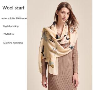 Digital-Drucken fertigt Dame Wool Scarf kundenspezifisch an
