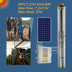 4inch 24V 태양 원심 잠수할 수 있는 펌프, 임펠러 펌프, 관개 펌프