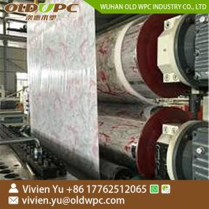 Fiche de marbre laminé PVC Machine de l'extrudeuse