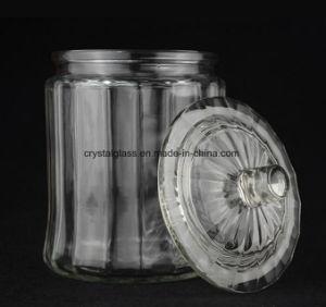Pot de verre avec couvercle en verre pour le stockage de cuisine