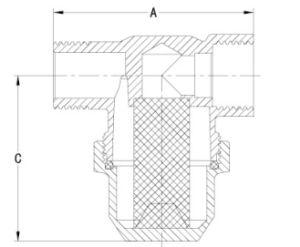 黄銅はニッケルメッキFT1005の真鍮フィルターを造った