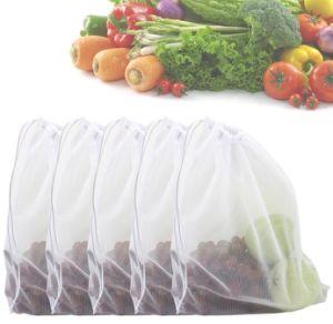 Erstklassiges waschbares umweltfreundliches mehrfachverwendbares Frucht-Gemüse-Lebensmittelgeschäft Mesh Erzeugnis-Beutel