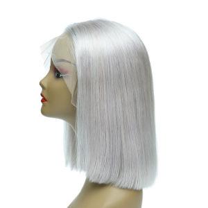 Cabelo humano Bob Peruca T cabelos lisos de cor