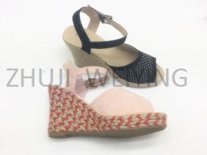 Filtre en coin de jute couleur sandale Fashion haut talon Mesdames Shoe