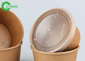 Papel Kraft biodegradável descartável arroz noodle bowl com revestimento de PLA