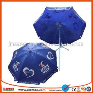 De Douane die van de Prijs van de fabriek de Openlucht WindParaplu's van het Strand van de Zon van de Parasol van de Reclame van de Bevordering voor Verkoop afdrukken