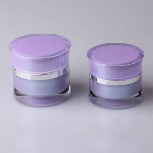 化粧品の包装のための紫色のアクリルのクリーム色の瓶(PPC-ACJ-025)