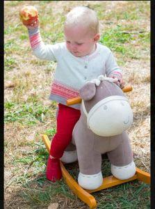 Rocking Horse en bois- gris âne// rocking-Jouet Jouet pour bébé