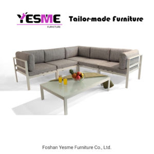 Yesmeの贅沢な家具の粉のコーティングのアルミニウムソファーのラウンジはホテルのテラスの庭浜の屋外のホーム居間の家具のための余暇の椅子をセットする