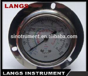 Calibrador de presión de Fillable del petróleo 066 con el borde