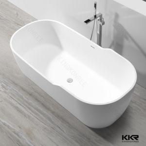 Chaud noir et blanc personnalisé Surface solide pierre baignoire personnalisée autostable