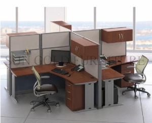 La nueva estación de trabajo moderno de madera utilizados Tabla de partición de la Oficina de vidrio (SZ-WST797)
